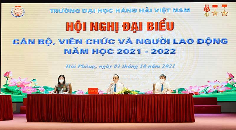 Trường Đại học Hàng hải Việt Nam: Hội nghị cán bộ, viên chức và người lao động năm học 2021 - 2022