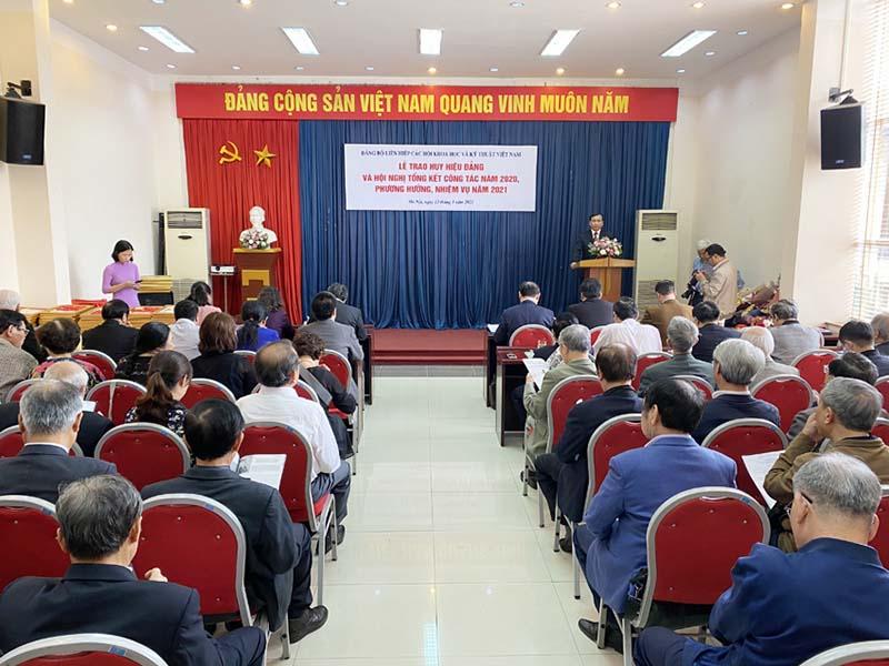 VUSTA: Lễ trao Huy hiệu Đảng và Hội nghị tổng kết công tác năm 2020, phương hướng, nhiệm vụ năm 2021
