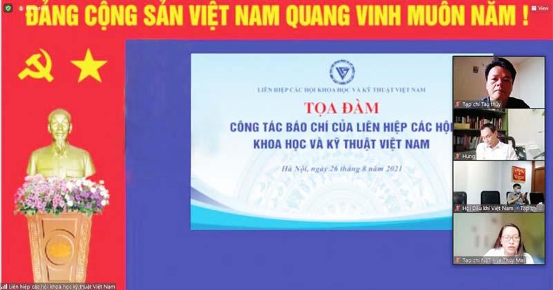 VUSTA: Tọa đàm trực tuyến với các cơ quan báo chí trong hệ thống Liên hiệp Hội Việt Nam